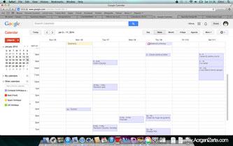Revisa tu calendario cada día - www.AorganiZarte.com