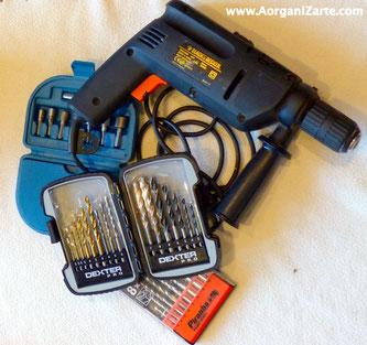 Las herramientas grandes guárdalas con sus accesorios - AorganiZarte