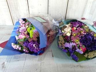 渋谷区渋谷にお届けした男性用の送別の花束。送料無料で可能地域です。