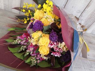 港区北青山にお届けした男性用花束。送料無料で即日配送可能です。