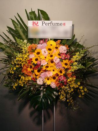贈先:Perfume様宛  場所:東京ドーム(文京区本郷)  イメージ:おまかせ  用途:コンサート御祝  その他:送料無料地域となります。ロビー花、即日対応可能です。