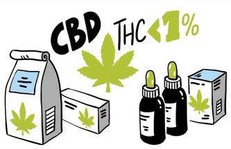 Cannabis wird gesundheitszuträgliche Wirkung attestiert. Legal ist in der Schweiz CBD-Hanf mit weniger als 1% THC.  Bildquelle: suchtschweiz.ch