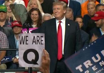 Trump-Anhänger bekennen sich oft zu QAnon