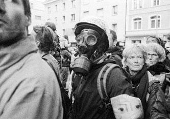 Gegner der Schutzmaßnahmen zur Eindämmung des Coronavirus demonstrieren am 29. August in Zürich, Schweiz. (Dario Veréb)