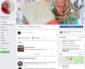 Bildlegende: Rolf Knie musste die peinlichsten Kommentare gar löschen  (Bildquelle: Facebook Account Rolf Knie, Screenprint)