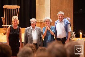 (Im Bild: Das Gründungsteam von 1989 heute. Von links nach rechts: Marianne Fässler, August Oberson, Rita Wicky-Berni und Bruno Weber – Foto STEMUTZ.COM)
