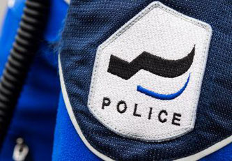 Police cantonale Fribourg - gros plan badge © 2018 Police cantonale Fribourg