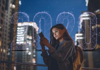 Die Nutzung von Smartphones ist zwischen 2020 und 2019 massiv angestiegen (Bildquelle: onespan.com)