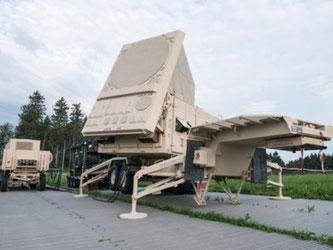 Die Sensorenstellung des amerikanischen Lenkwaffensystem Patriot von Raytheon auf dem Gubel (Foto: Xavier Rappo, armasuisse)
