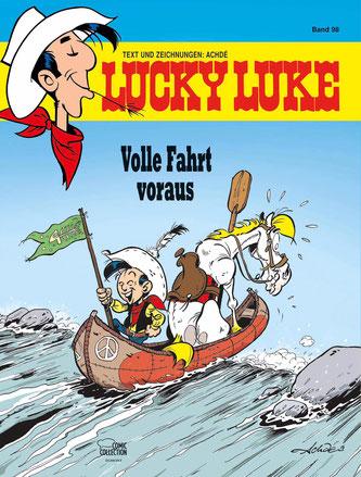 Lucky Luke - Band 98 - Volle Fahrt voraus. • Bildquelle: obs/Egmont Ehapa Media GmbH/© Lucky Comics 2020