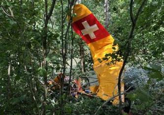 Un aéronef rate son atterrissage et s'écrase en lisière de forêt © Alle Rechte vorbehalten