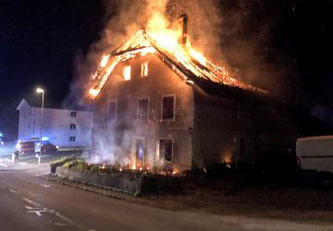 Incendie d'une maison à Vallon © Tous droits réservés