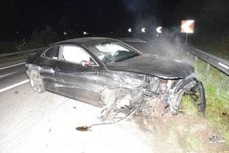 Unfallfahrzeug (Bildquelle: Kantonspolizei Solothurn)