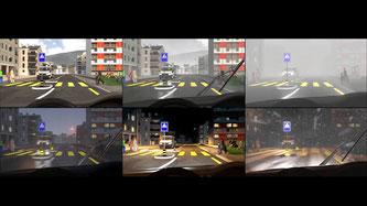 Videoinstallation im Verkehrshaus Luzern Bildquelle: Video © 2018 bfu – Beratungsstelle für Unfallverhütung