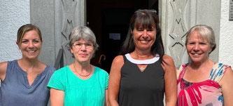 Die neue Leitung mit neuer Geschäfstleitung der S&E Schweiz in Oftringen:  Von links nach rechts: Gaby Fina (Geschäftsstelle), Mirta Waller, Sabine Meni, Gabriela Heimgartner