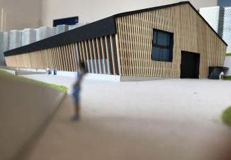 Modell des zukünftigen Schulbauernhofs vom Grangeneuve ©