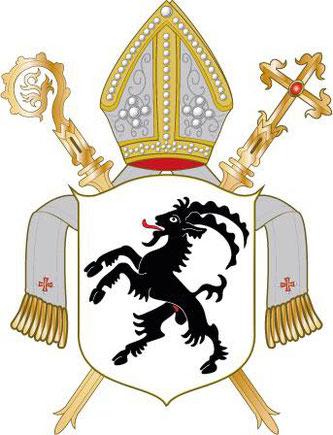 Das Wappen des Bistum Chur {} Bildquelle: David Liuzzo, Wikipedia