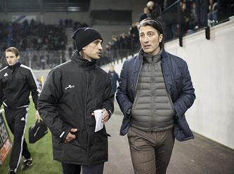 Hakan Yakin (links) wird vom RAV bezahlt. Bildquelle: FC Schaffhausen
