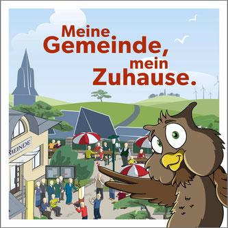 Cover der Broschüre »Ihre Gemeinde, Ihr Zuhause« (Version für die Kinder).  Bildquelle: Schweizerischer Gemeindeverband (SGV)