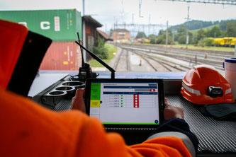Der Testbetrieb ist ein Automatische Bremsprobe: Meilenstein für die technologische Entwicklung im Güterverkehr. / Quelle: SBB CFF FFS Cargo