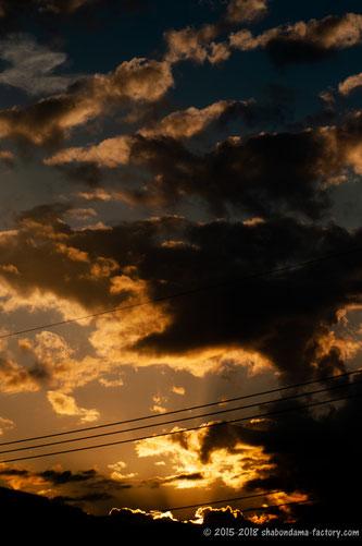 人生すべての喜怒哀楽が一夕の煌めき/the setting sun