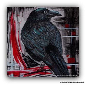 Acrylmalerei Rabe von Anke Franikowski