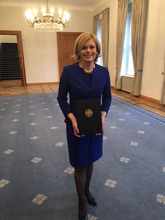 Ernennung Julia Klöckner. Foto: CDU