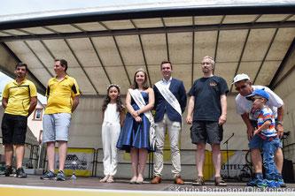 Die Sieger mit den meisten Teilnehmern: SC Ibersheim, TTV Rheindürkheim und die CDU.