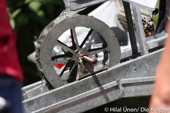 Ein altes Wasserrad.