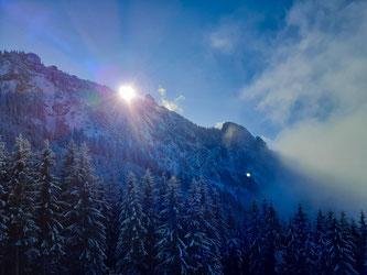 Sonne Berge Wanderung