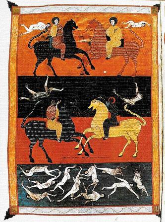 Los cuatro jinetes del apocalipsis del Beato de Liébana.