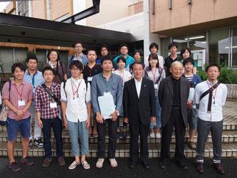 2014年9月:豊前訪問の様子。