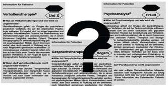 """Idee für einen """"Beipackzettel"""" für Pychotherapie"""