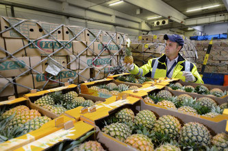 Quality control of perishables is a constant task at Frankfurt's PCF  /  courtesy Fraport