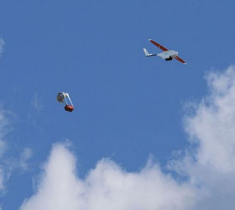 Parachutes secure the soft landing of the shipments at their destination