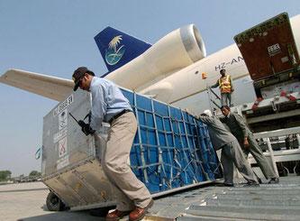 Cargo handling at Dammam's KFIA