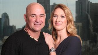 Nella foto Andre Agassi e Steffi Graf