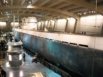 Nell'immagine l'U-Boot 505 in mostra al Museum of Sience and Industry di Chicago