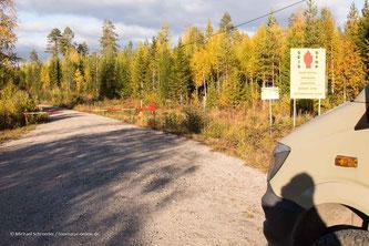 Schlagbaum an der russischen Grenze