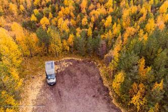 Parkplatz im Nationalpark Pyhä-Luosto
