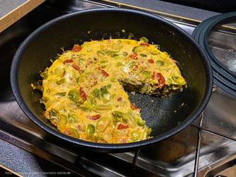 Frittata - italienisches Omelette in der Pfanne