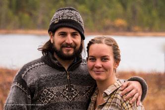 Josephine und Markus von der Huskyfarm Nomadic Naali