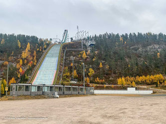 Ski-Sprungschanze in Ruka bei Koosamo
