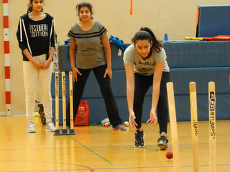 Sejal Patel (centre) at indoor training