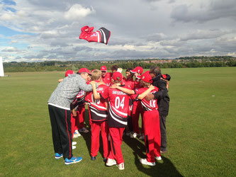 Swiss U13s team huddle