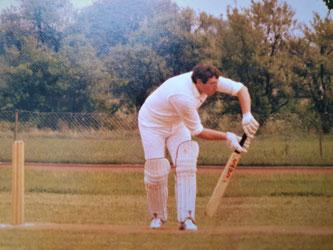 Fred Franks batting in Switzerland