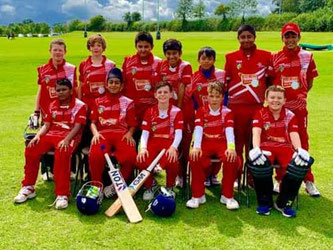 Swiss U11 Team in Leicester