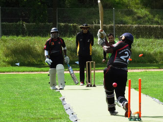 Howzat, Genevan batsman is bowled by St Gallen