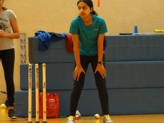 Veena Mampilly at indoor training