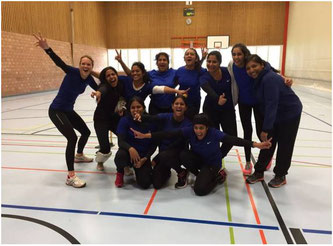 Women's indoor cricket training, Zurich 2016